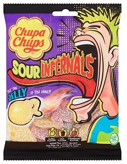 Chupa Chups Chupa Chups - Sour Infernals Sour Jellies 150 Gram