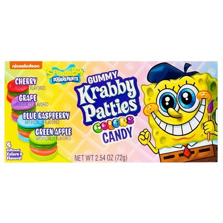 Overige Spongebob Squarepants Gummy Krabby Patties Colors 72 Gram