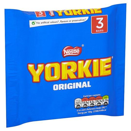 Nestle Nestle - Yorkie Original Milk Chocolate Bar 3-Pack 138 Gram