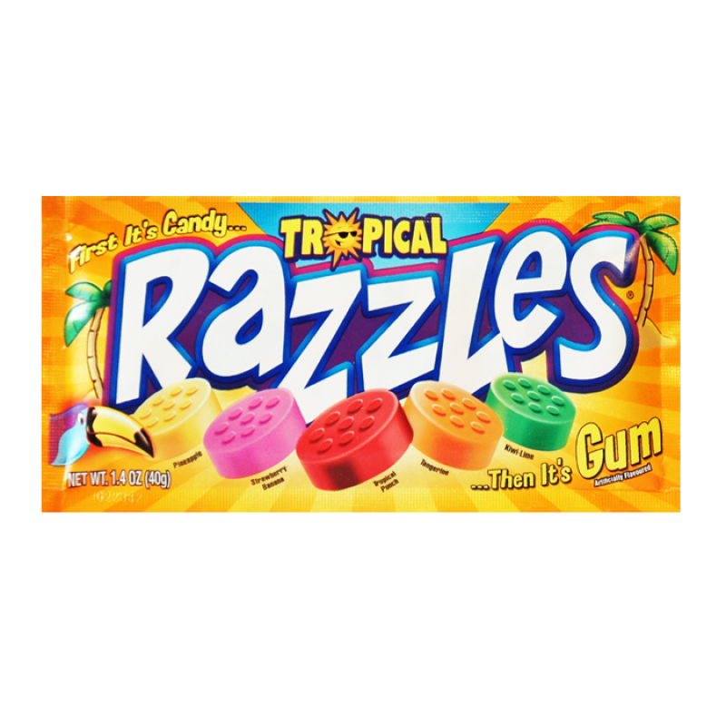 Razzles Razzles - Tropical Pouch 40 Gram