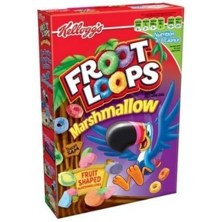 Kelloggs Kellogg's Froot Loops Cereal With Marshmallows 297 Gram