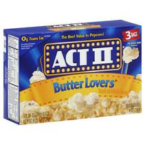 ACT II - Butter Lovers Microwave Popcorn 234 Gram