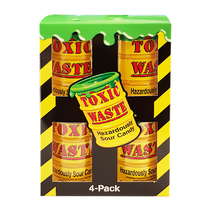 Toxic Waste - Yellow Drum 4-Pack 168 Gram