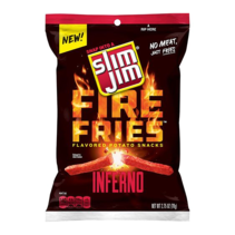 Slim Jims - Fire Fries Inferno Potato Snacks 78 Gram
