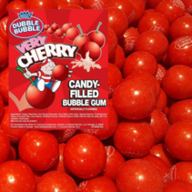 Dubble Bubble - Very Cherry Candy-Filled Bubble Gum Balls 1 Kilo