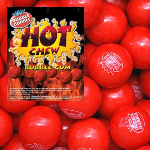 Dubble Bubble Dubble Bubble - Hot Chew Cinnamon Gumballs 1 Kilo