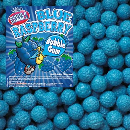 Dubble Bubble Dubble Bubble - Blue Raspberry Gumballs 1 Kilo