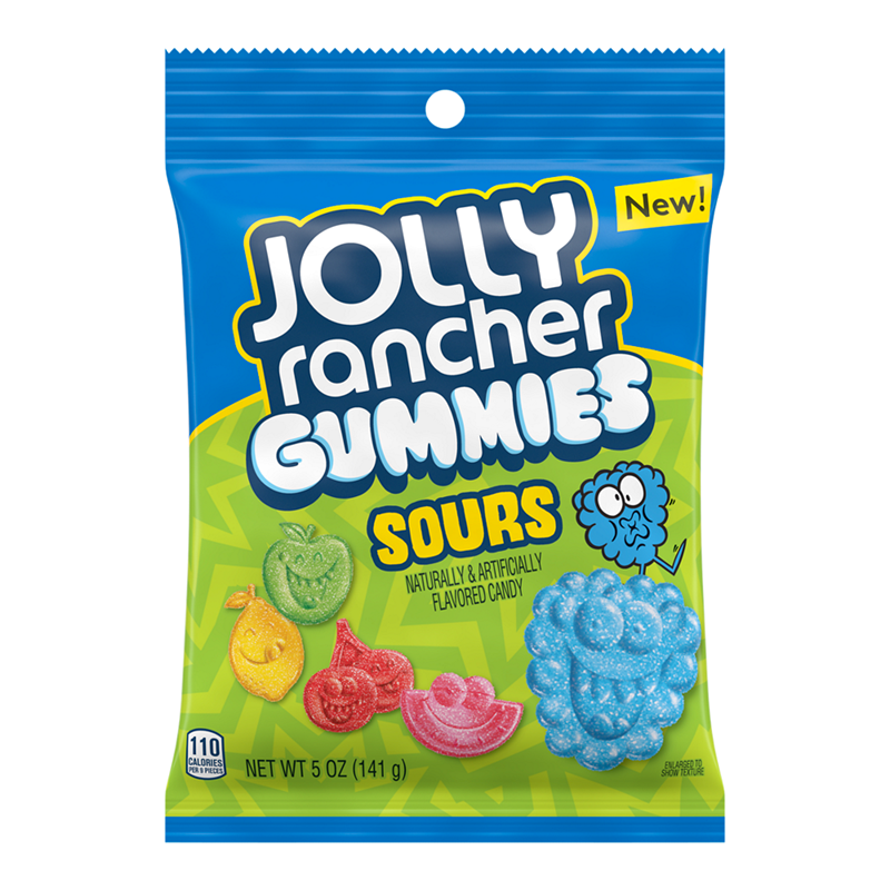 Jolly Rancher Jolly Rancher - Sour Gummies Peg Bag 142 Gram