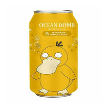 Ocean Bomb Pokemon - Psyduck Apple Flavour Sparkling Water 355ml