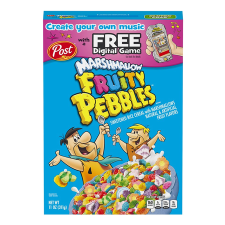Post Post - Marshmallow Fruity Pebbles Cereal 311 Gram
