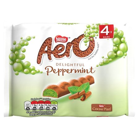 Nestle Nestle - Aero Peppermint 4-Pack 108 Gram