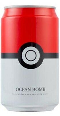 Pokemon Ocean Bomb Pokemon Pokeball Original Sparkling Water 355ml