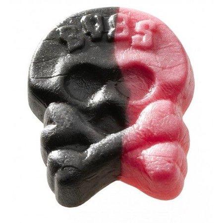 Bubs Bubs - Godis Zweedse Drop-Framboos Doodskoppen Foam 2,8 Kilo