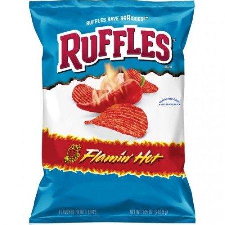 Ruffles Ruffles - Potato Chips Flamin Hot 184 Gram