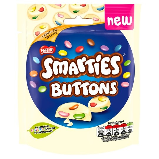 Smarties Smarties - White Chocolate Buttons Bags 32.5 Gram