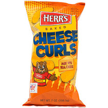 Herr's Cheddar Baked Cheese Curls 198,5 Gram