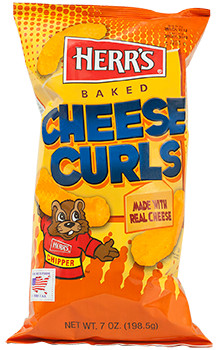 Herrs Herr's Cheddar Baked Cheese Curls 198,5 Gram