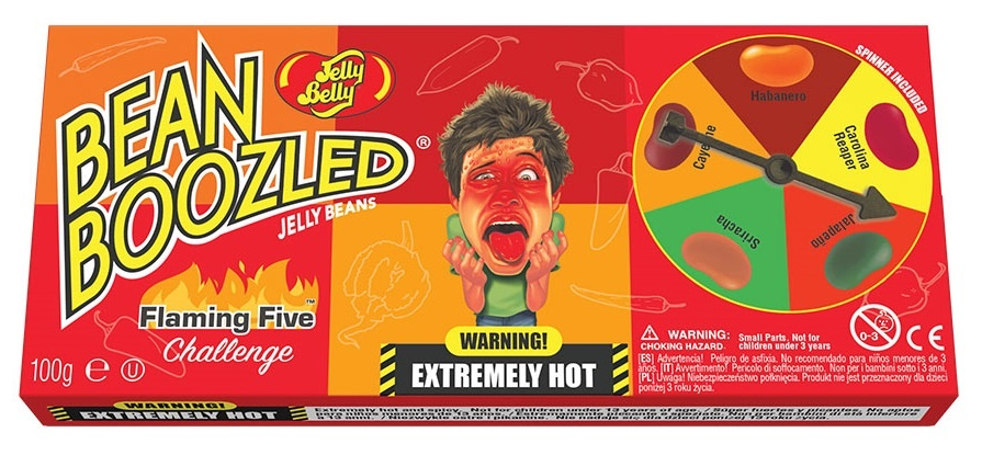 Jelly Belly Jelly Belly - Bean Boozled Flaming 5 Spinner 100 Gram