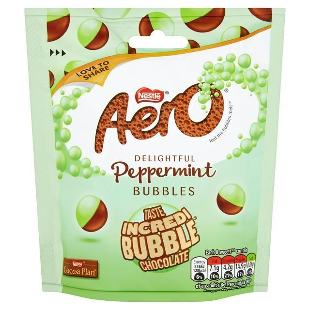 Nestle Nestle - Aero Bubbles Peppermint Mint Chocolate Pouch 102 Gram