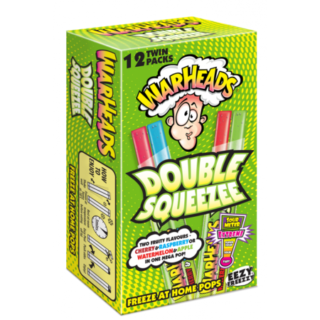 Warheads Warheads - Double Squeezee Freeze Pops 12-Pack