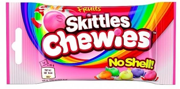 Skittles Skittles - Fruit Chewies Bag Single 45 Gram