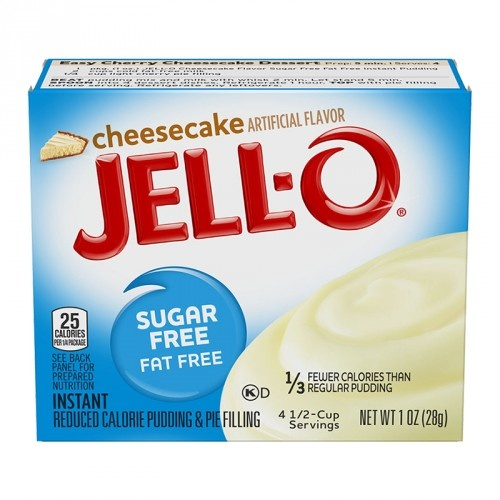 Jell-O Jell-O - Cheesecake Instant Mix Suikervrij 28 Gram