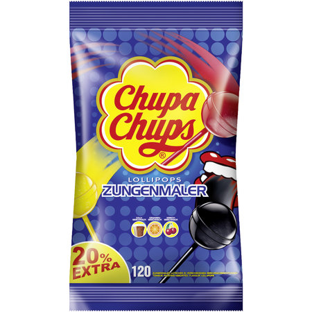 Chupa Chups Chupa Chups - Tong Painter (zungen-maler) 100 Stuks + 20 Stuks Extra