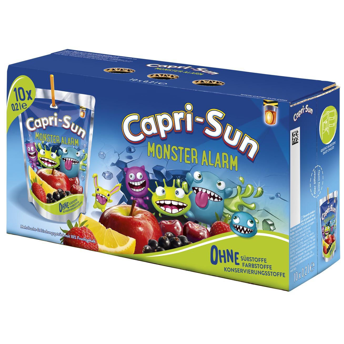 Capri-Son Capri-Sun - Monster Alarm 200ml 10-Pack