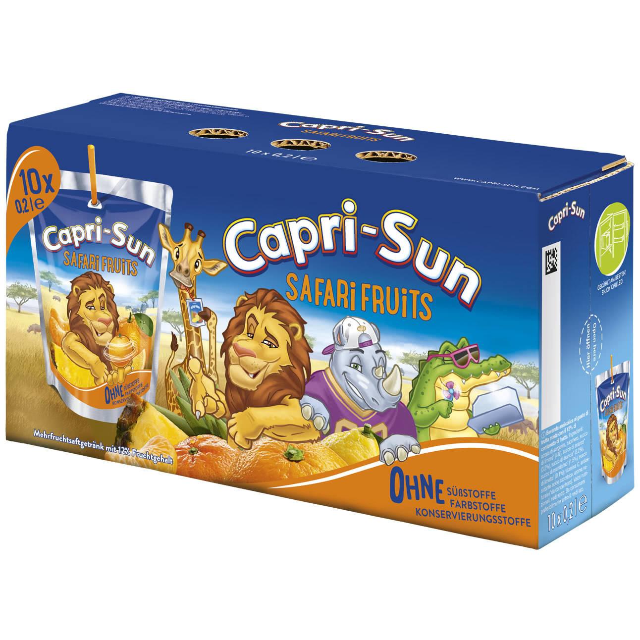 Capri-Son Capri-Sun - Safari Fruits 200ml 10-Pack