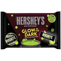 Hershey's - Milk Chocolate Snack Size with Glow in the Dark Wrappers 268 Gram