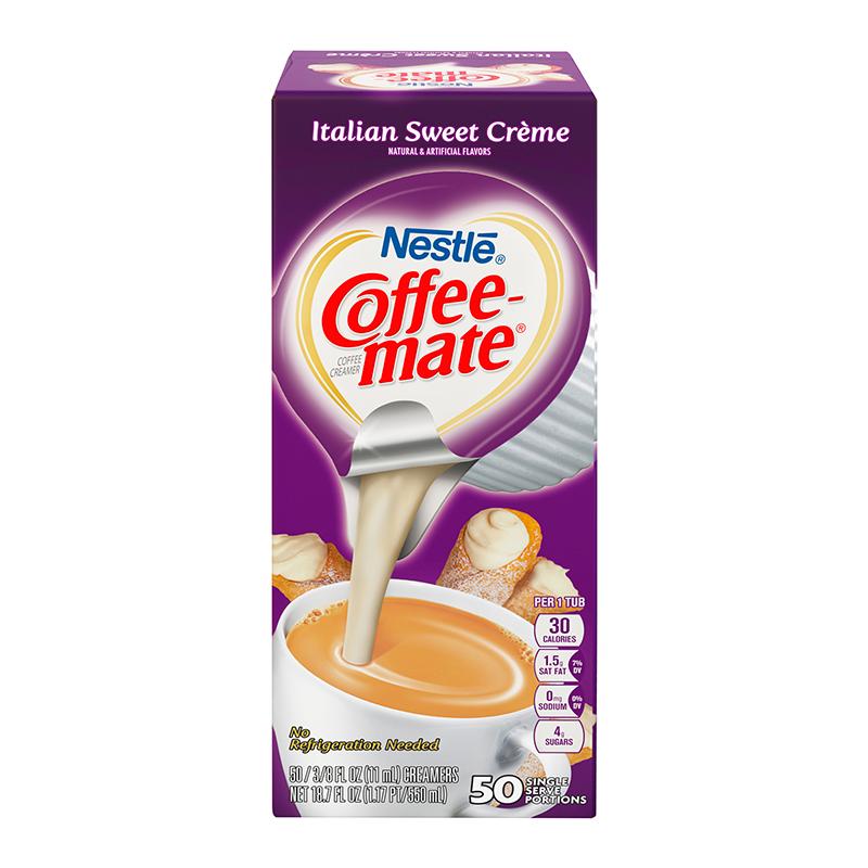 Coffee Mate Coffeemate - Single Serve Creamers Italian Sweet Creme 50 Stuks