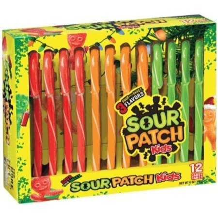 Sour Patch Sour Patch - Candy Canes 12 Stuks