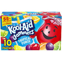 Kool-Aid - Sour Jammers Tropical Punch Flavored Drink 10-pack