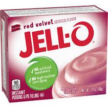 Jell-O - Instant Pudding Red Velvet 96 Gram