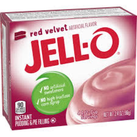 Jell-O Jell-O - Instant Pudding Red Velvet 96 Gram