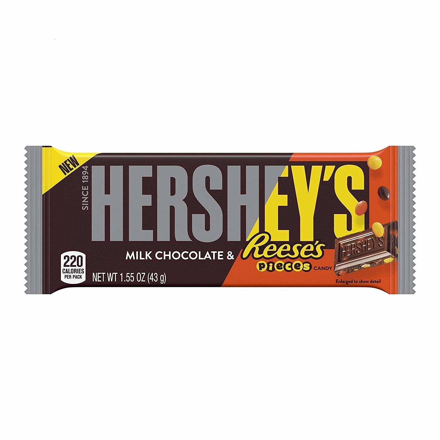 Reese's Hershey's - Milk Chocolate Bar with Reese's Pieces 43 Gram