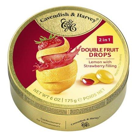 Cavendish & Harvey Cavendish & Harvey - Double Fruit Drops - Lemon Strawberry 175 Gram