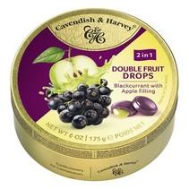 Cavendish & Harvey - Double Fruit Drops - Blackcrurrant Apple 175 Gram