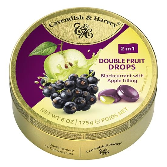 Image of Cavendish & Harvey Cavendish & Harvey - Double Fruit Drops - Blackcrurrant Apple 175 Gram 122305037
