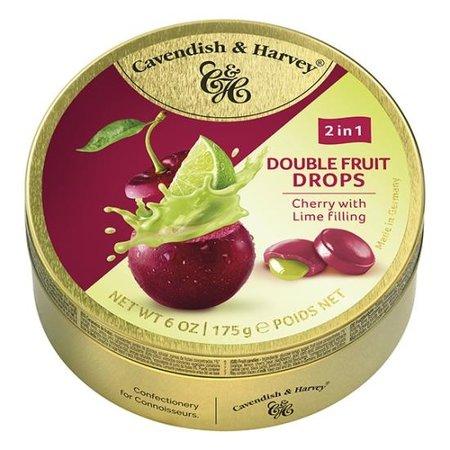 Cavendish & Harvey Cavendish & Harvey - Double Fruit Drops - Cherry Lime 175 Gram