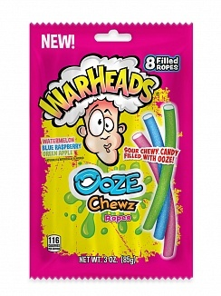 Warheads Warheads - Ooze Chewz Ropes 85 Gram