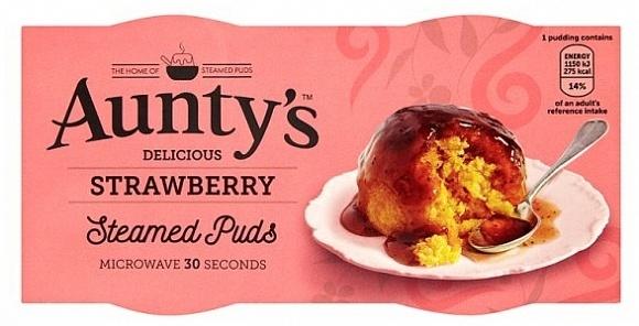 Auntys - Strawberry  Pudding 190 Gram