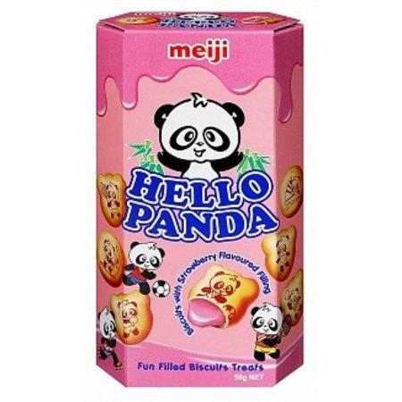 Meij Meij - Hello Panda - Strawberry 50 Gram