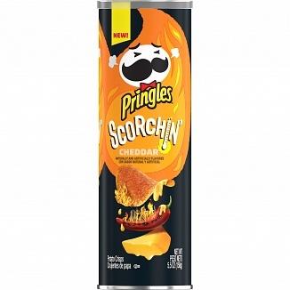 Pringles Pringles - Scorchin' Cheddar 158 Gram