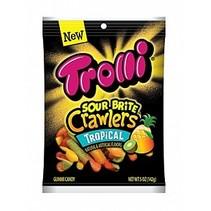 Trolli - Tropical Sour Brite Crawlers Minis 142 Gram