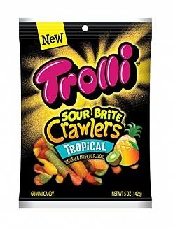 Trolli Trolli - Tropical Sour Brite Crawlers Minis 142 Gram
