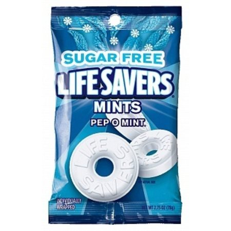 Lifesavers Lifesavers - Hard Candy Pep O Mint Suikervrij 78 Gram