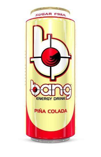 Bang Bang - Pina Colada Energy Drink 500ml (suikervrij) 12 Blikjes