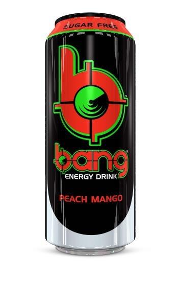 Bang Bang - Bangster Peach Mango Energy Drink 500ml (suikervrij) 12 Blikjes