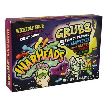 Warheads Warheads - Halloween Wickedly Sour Grubs 85 Gram